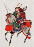 c. 1878 - A samurai on horseback