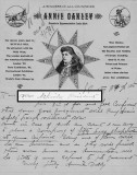 April 5, 1898 - Annie Oakley's letter to the President