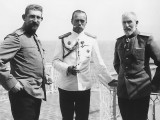 1914 - Nicholas with Prince Ferdinand of Romania (left) and King Carol I of Romania (right)