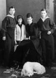 Maria Feodorovna with her three eldest children