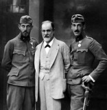 1916 - Sigmund Freud with his sons Ernest and Martin...