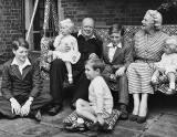 1951 - Winston Churchill with his wife and grandchildren