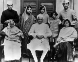 c. 1927 - Family of Motilal Nehru (seated center)