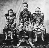 1851 - Prince Chulalongkorn with two younger brothers