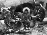 c. 1917 - An Inuit family