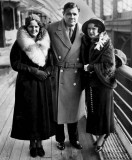 1932 - Babe Ruth with adopted daughter (left) and 2nd wife