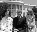 July 24, 1977 - Jimmy Carter with wife Rosyln and daughter Amy
