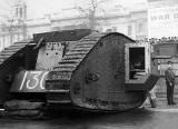 November 1917 - Tank in Trafalgar Square, London