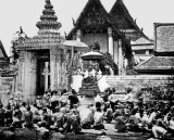 1865 - King Mongkut arriving at Wat Po (Temple of the Reclining Buddha)
