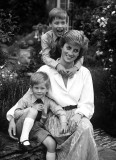 1989 - Pincess Diana with her sons