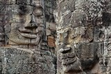 Two Stone Faces at Bayon