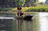 Rowing with feets - Ninh Binh