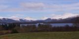 The Loch Lomond mountains from near Gartocharn