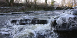 The Pot of Gartness waterfall on the Endrick Water