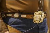 Cowboy Poet Award Belt Buckle