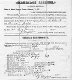 Darius Helmick/Louisa Arisba Godfrey Marriage Certificate