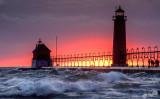 Michigan Lighthouses On Lake Michigan