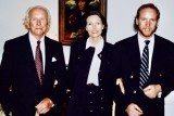 Dr. Josef Issels, Ilse Marie Issels, Dr. Christian Issels, at home in Palm Beach, 1996