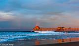 dawning at Huntington Beach Pier