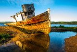 a wrecked ship at Point Reyes, CA
