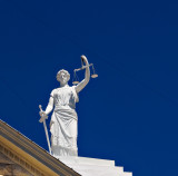 Courthouse detail, Lady Justice