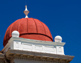 Courthouse detail, red dome on courthouse roof