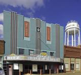 A very nice art deco theater. Now repurposed as a retail establishment, Covington, TN