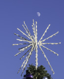 Christmas tree star with the moon above