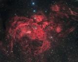 NGC 6357 - Lobster Nebula in Scorpius