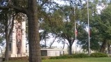 Texas State Park above LaGrange Texas with the Mosoleum holding the Black Bean Incident Dead