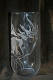 Elk etched glass