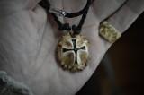 Antler burr relief cross