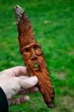 Cottonwood bark wood spirit