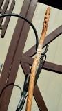 Wood spirit hiking stick