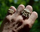Antler skull ring #1