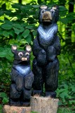 Momma and cub Chainsaw bears