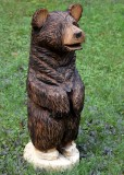 Chainsaw bear stained and oiled #1