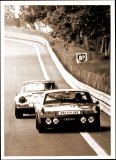 1971 24 Hours Le Mans Photo - 914-6 GT No 19 and a 911-0001 - Photo 1
