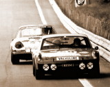 1971 24 Hours Le Mans Photo - 914-6 GT No 19 and a 911-0001 - Photo 2