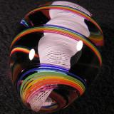 Rainbow Tornado Egg Size: 1.63 Price: SOLD