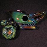 Akio x Atsushi Sasaki, Chameleon Tech Size: 3.87 x 2.43 Price: SOLD