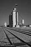 Grain Elevators and Railroad Tracks