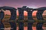Carhenge Sunset through a Concave Lens