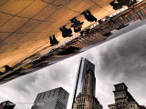 City View from Under Cloud Gate