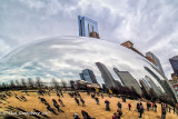 Cloud Gate Reflections Close Up