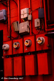 Electric Meters in Red