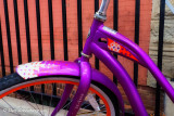 Purple Bike Abstract