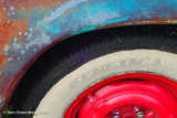 Red Wheel, White Wall and Patina