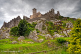 Looking up at the Rock of Cashel