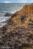 Carly on the Rocks - Giant's Causeway